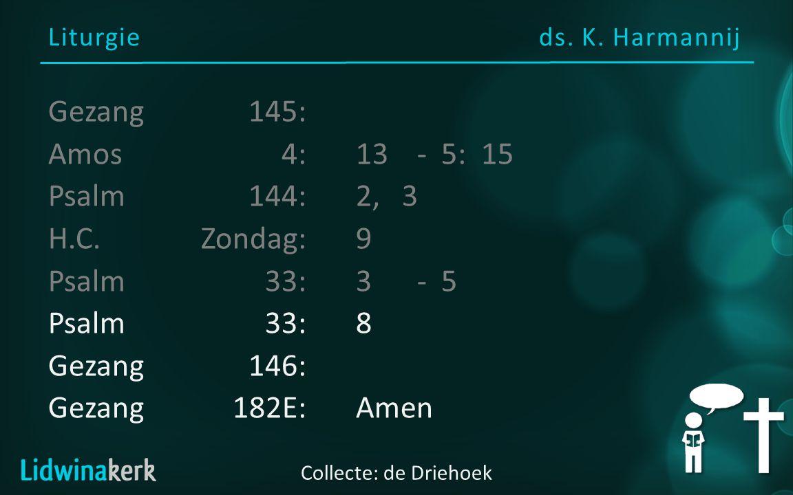 Liturgie ds. K.