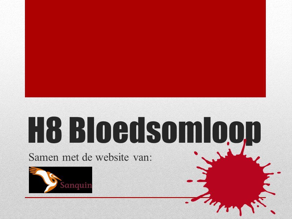 H8 Bloedsomloop Samen met de website van: