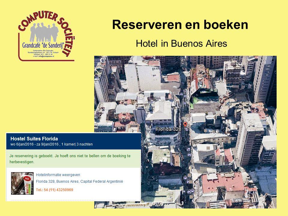 Reserveren en boeken Hotel in Buenos Aires