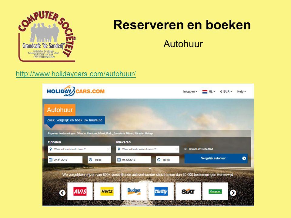 Reserveren en boeken Autohuur http://www.holidaycars.com/autohuur/