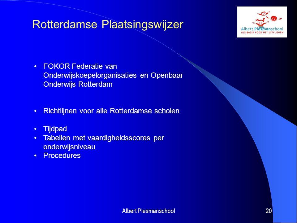 Albert Plesmanschool21 Traject m.b.t.