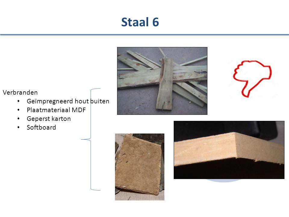 Verbranden Geïmpregneerd hout buiten Plaatmateriaal MDF Geperst karton Softboard Staal 6