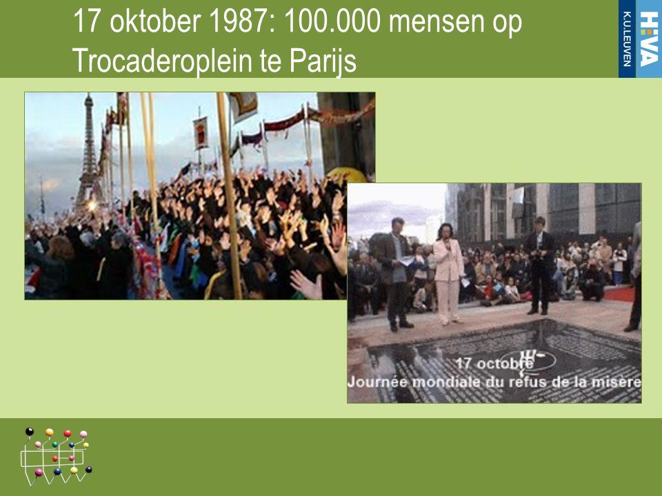 17 oktober 1987: 100.000 mensen op Trocaderoplein te Parijs