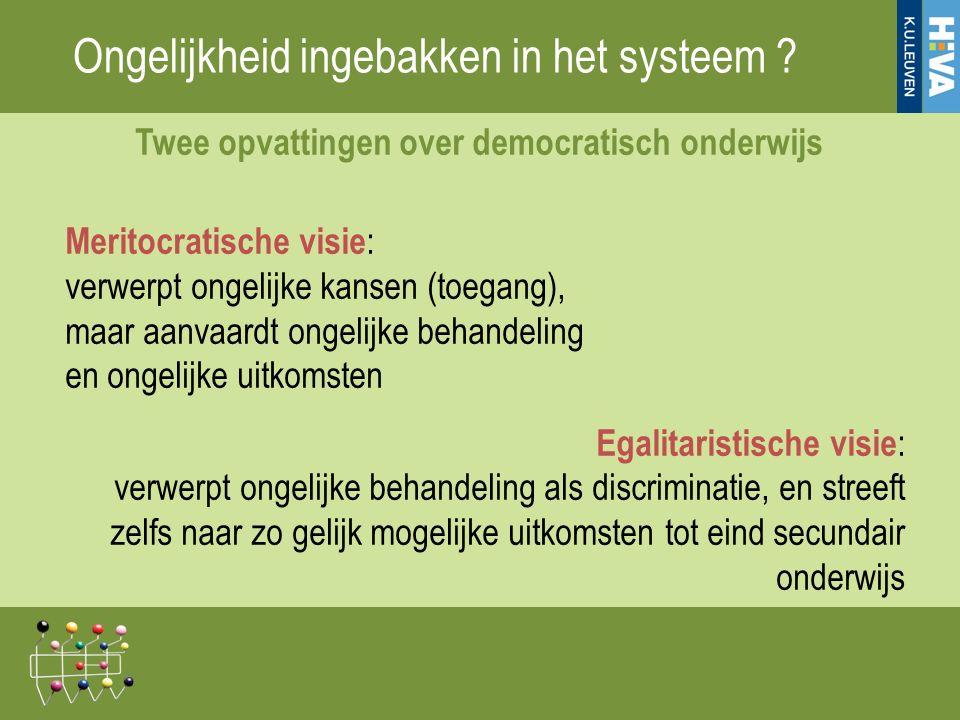 Ongelijkheid ingebakken in het systeem .