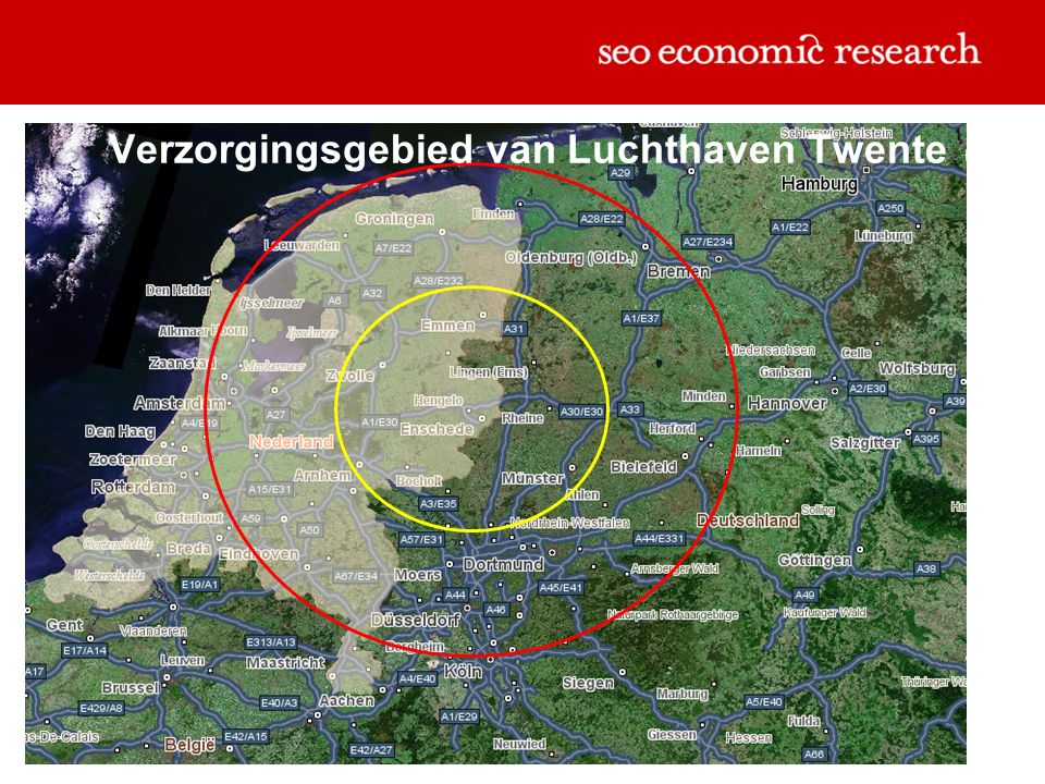 Verzorgingsgebied van Luchthaven Twente