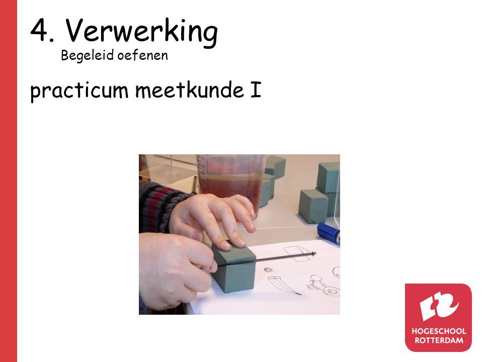 4. Verwerking Begeleid oefenen practicum meetkunde I
