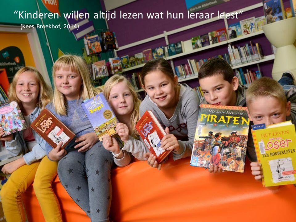 """""""Kinderen willen altijd lezen wat hun leraar leest"""" (Kees Broekhof, 2014)"""