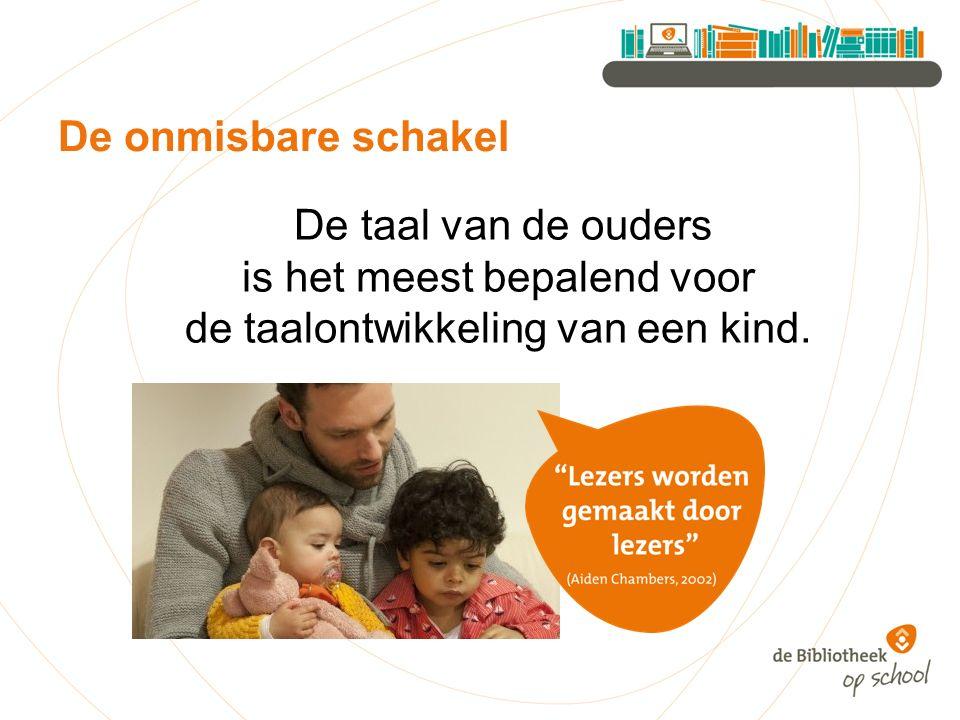 De taal van de ouders is het meest bepalend voor de taalontwikkeling van een kind. De onmisbare schakel