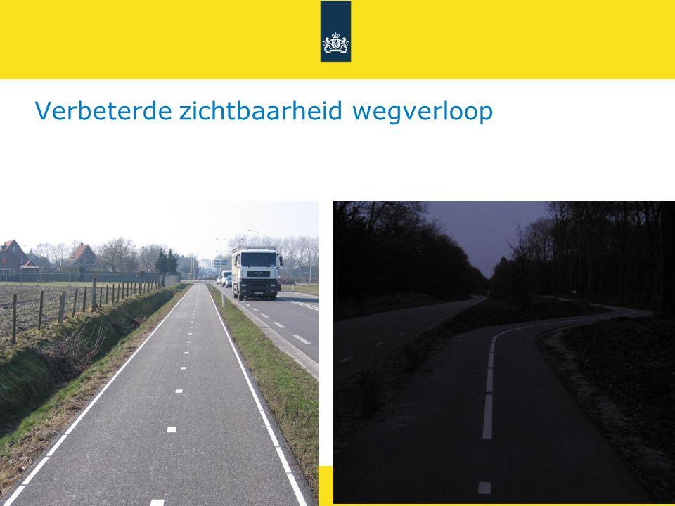 Rijkswaterstaat 21Fietsveiligheid RWS UNCLASS Verbeterde zichtbaarheid wegverloop