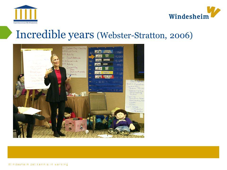 Windesheim zet kennis in werking Incredible years (Webster-Stratton, 2006)