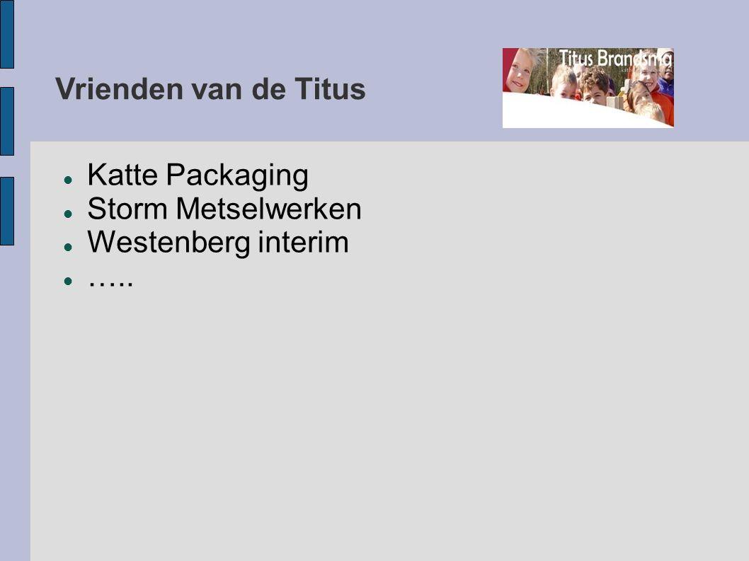 Vrienden van de Titus Katte Packaging Storm Metselwerken Westenberg interim …..