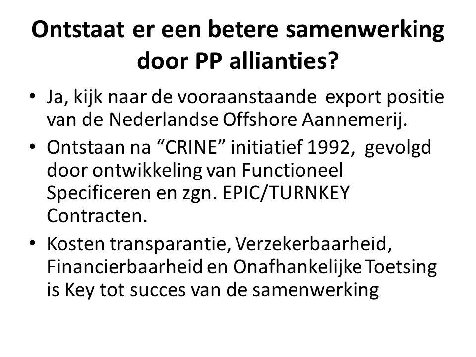Ontstaat er een betere samenwerking door PP allianties.