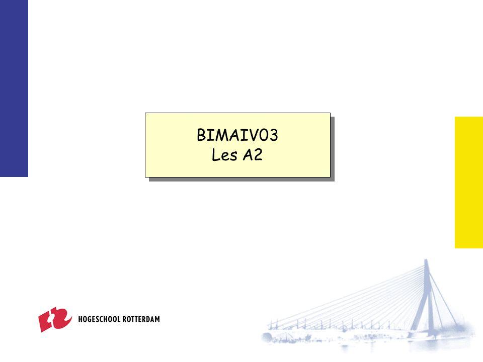BIMAIV03 Les A2 BIMAIV03 Les A2 Databases