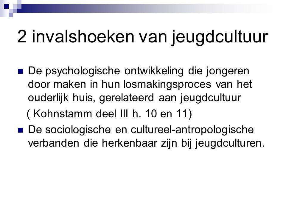 De psychologische ontwikkeling die jongeren door maken in hun losmakingsproces van het ouderlijk huis, gerelateerd aan jeugdcultuur ( Kohnstamm deel III h.