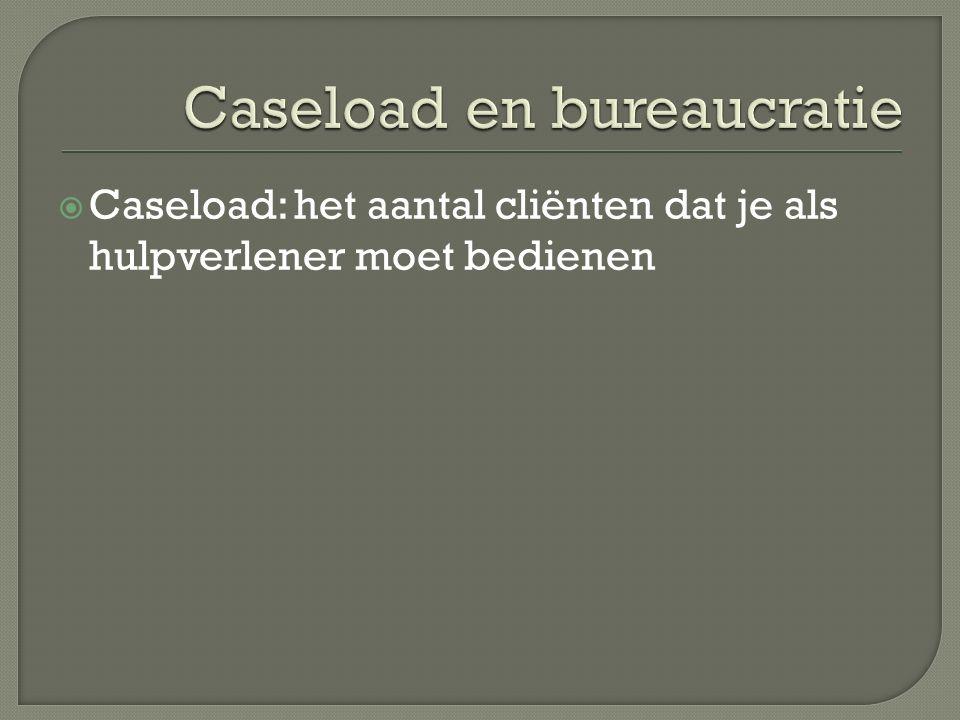  Caseload: het aantal cliënten dat je als hulpverlener moet bedienen