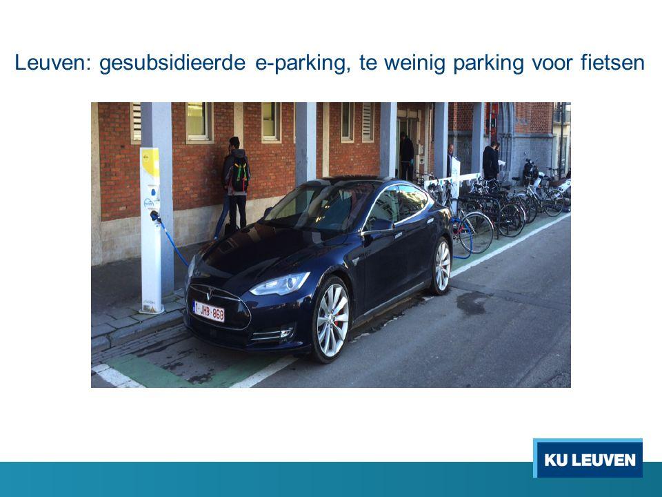 Leuven: gesubsidieerde e-parking, te weinig parking voor fietsen