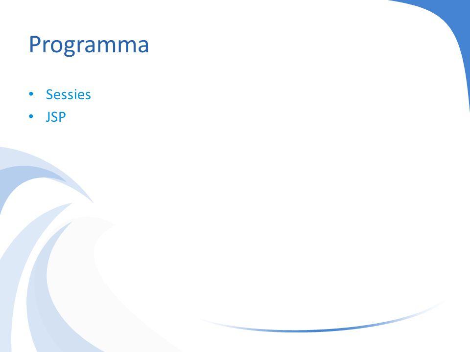 Programma Sessies JSP