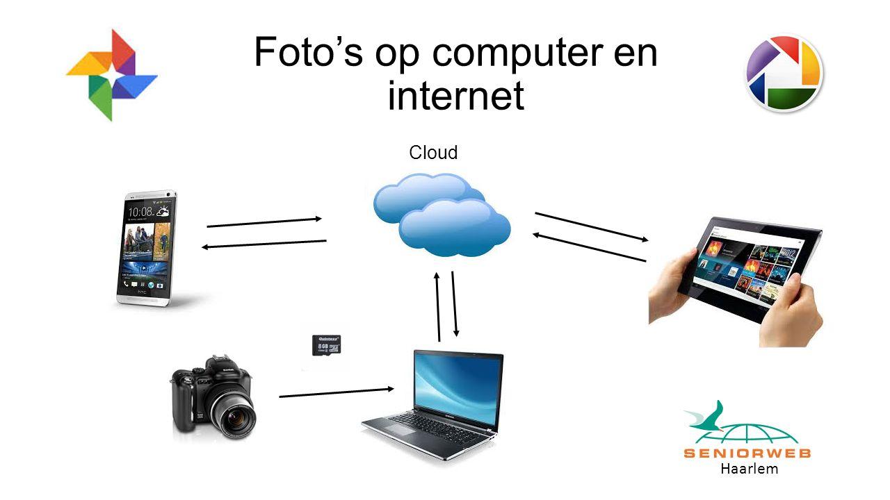 Haarlem Foto's op computer en internet Cloud