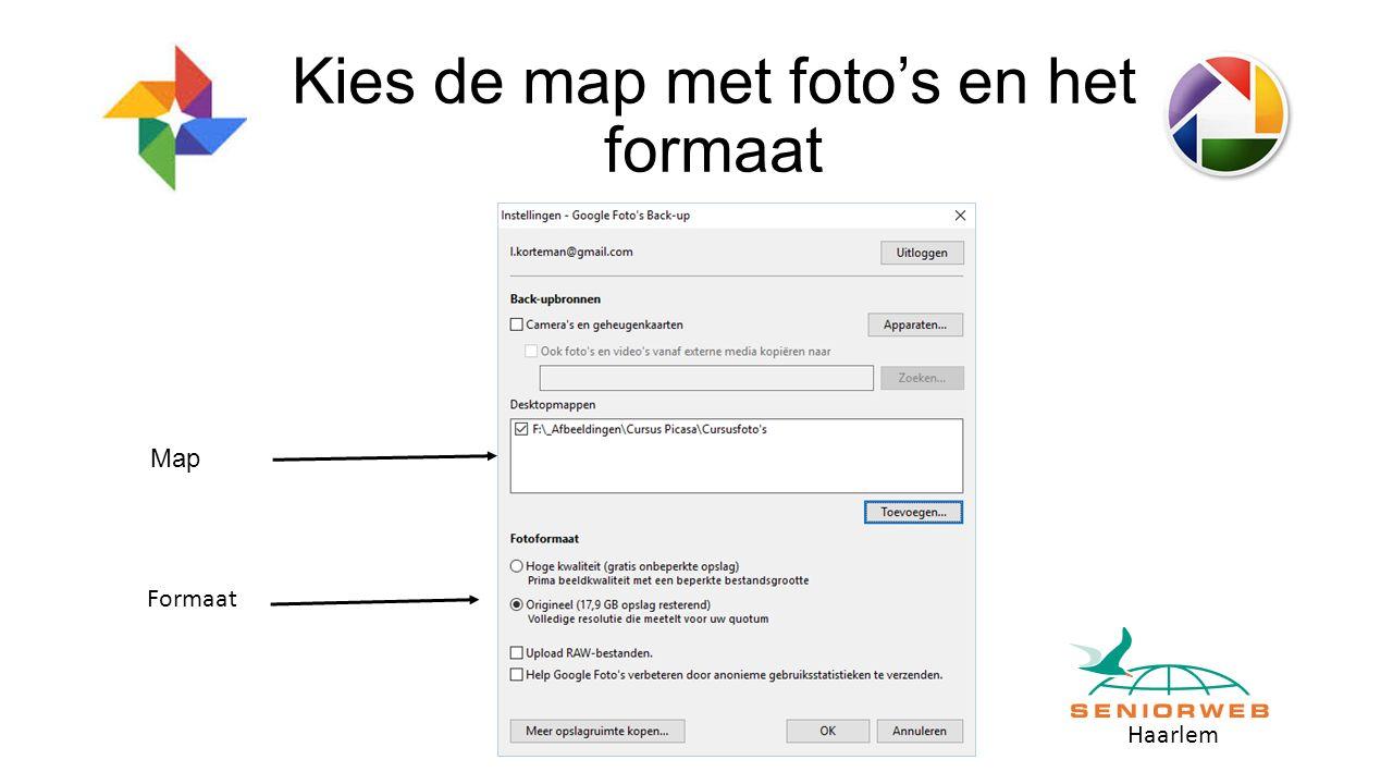 Haarlem Kies de map met foto's en het formaat Map Formaat