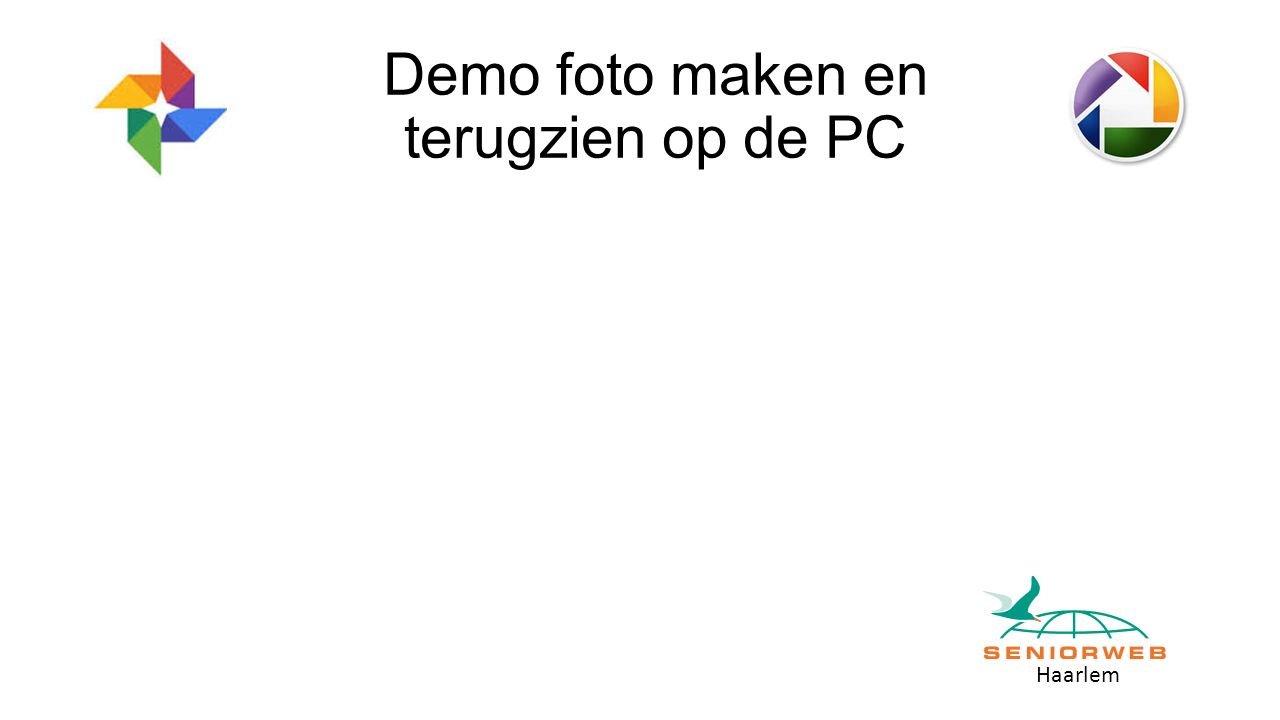 Haarlem Demo foto maken en terugzien op de PC