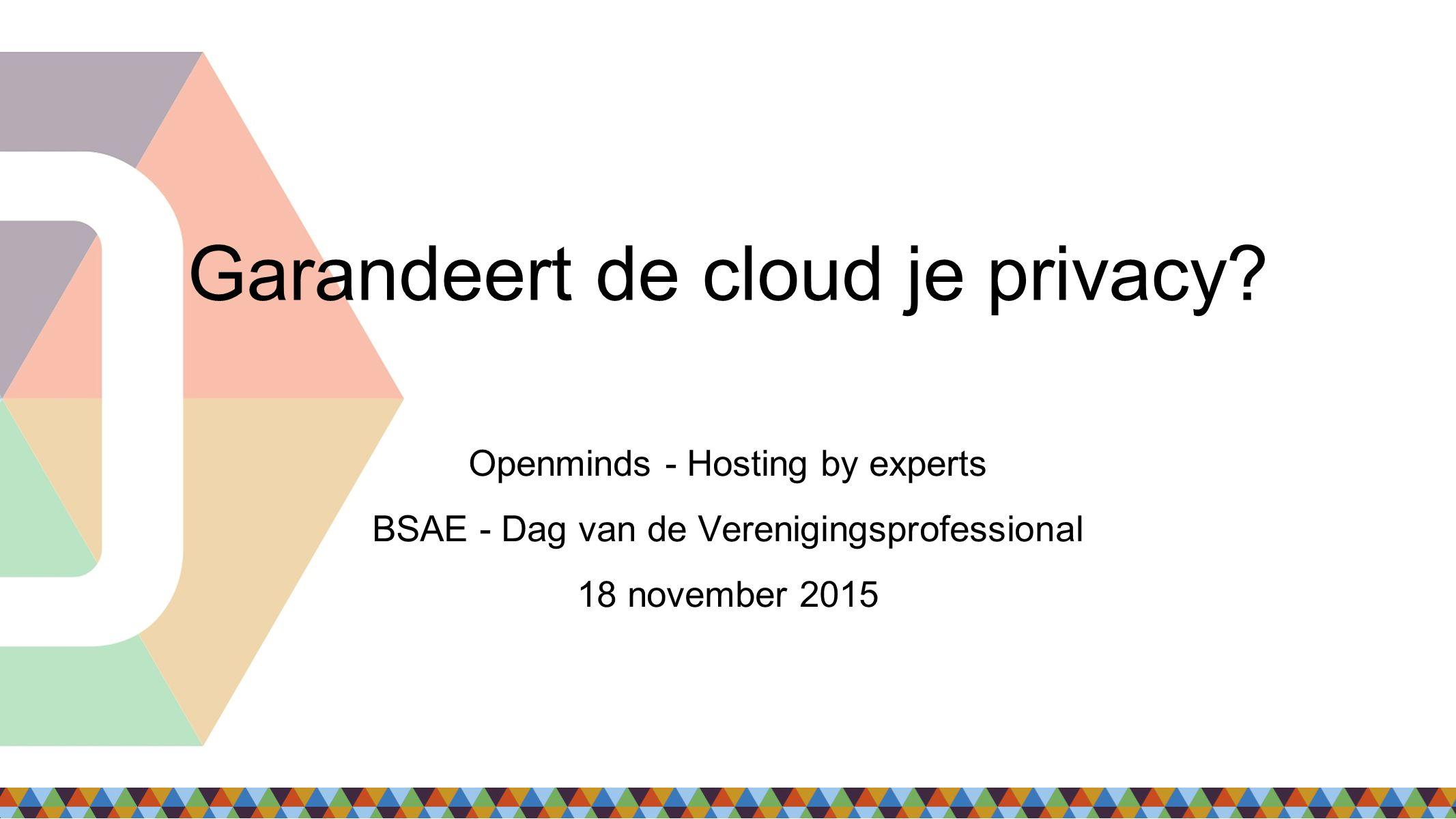 Uw data & de cloud