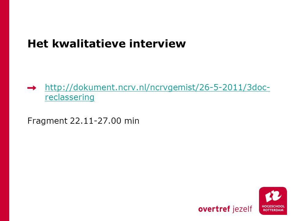 Het interview is geen cliënt gesprek.