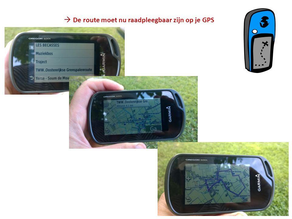  De route moet nu raadpleegbaar zijn op je GPS