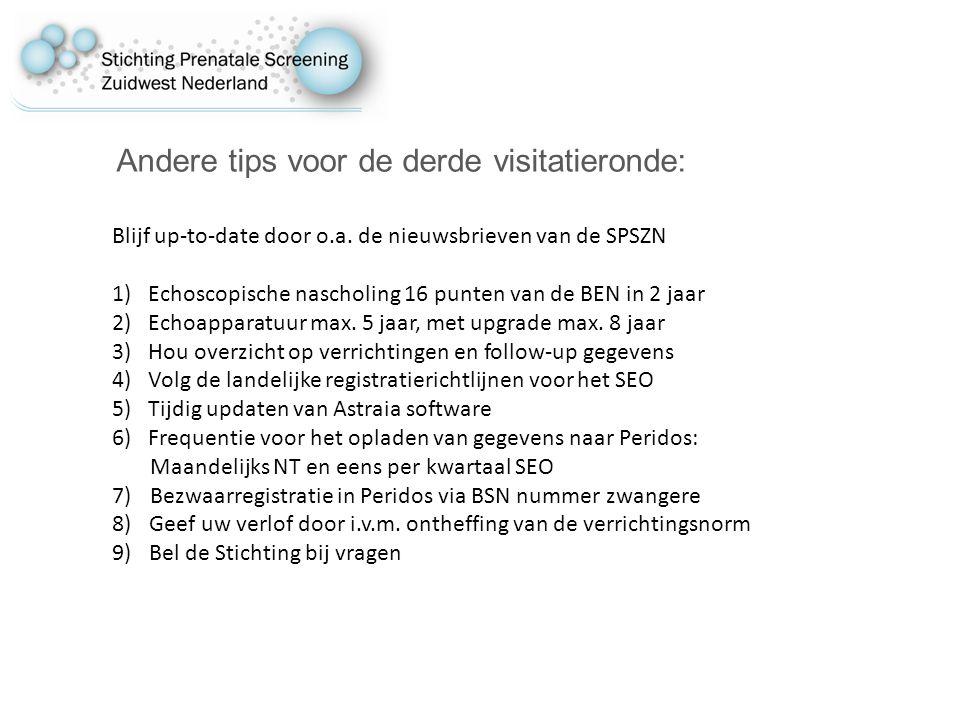 Andere tips voor de derde visitatieronde: Blijf up-to-date door o.a.