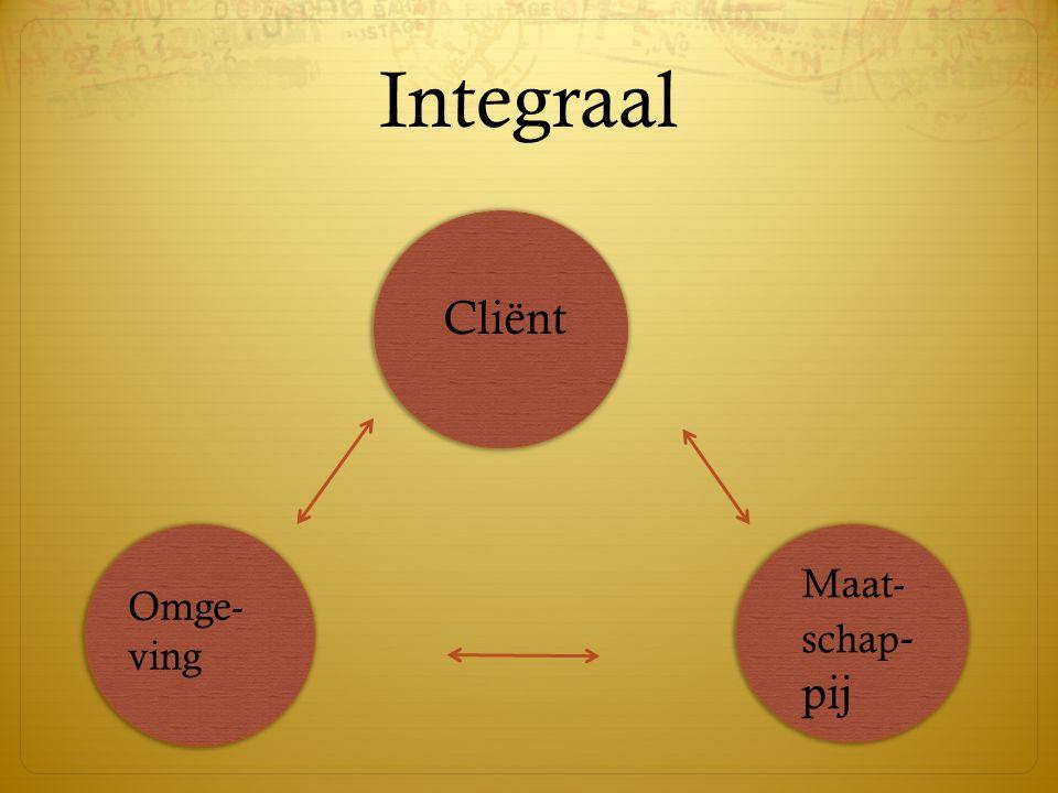 Cliënt Maat- schap - pij Omge- ving Integraal
