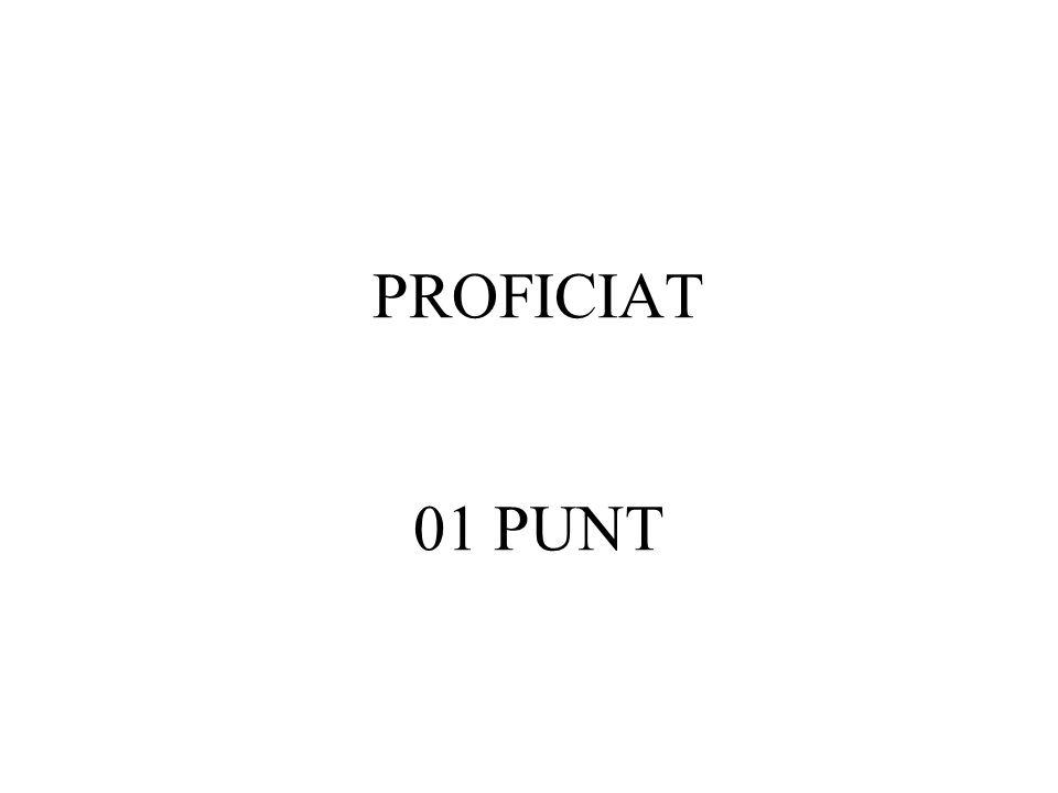 PROFICIAT 01 PUNT