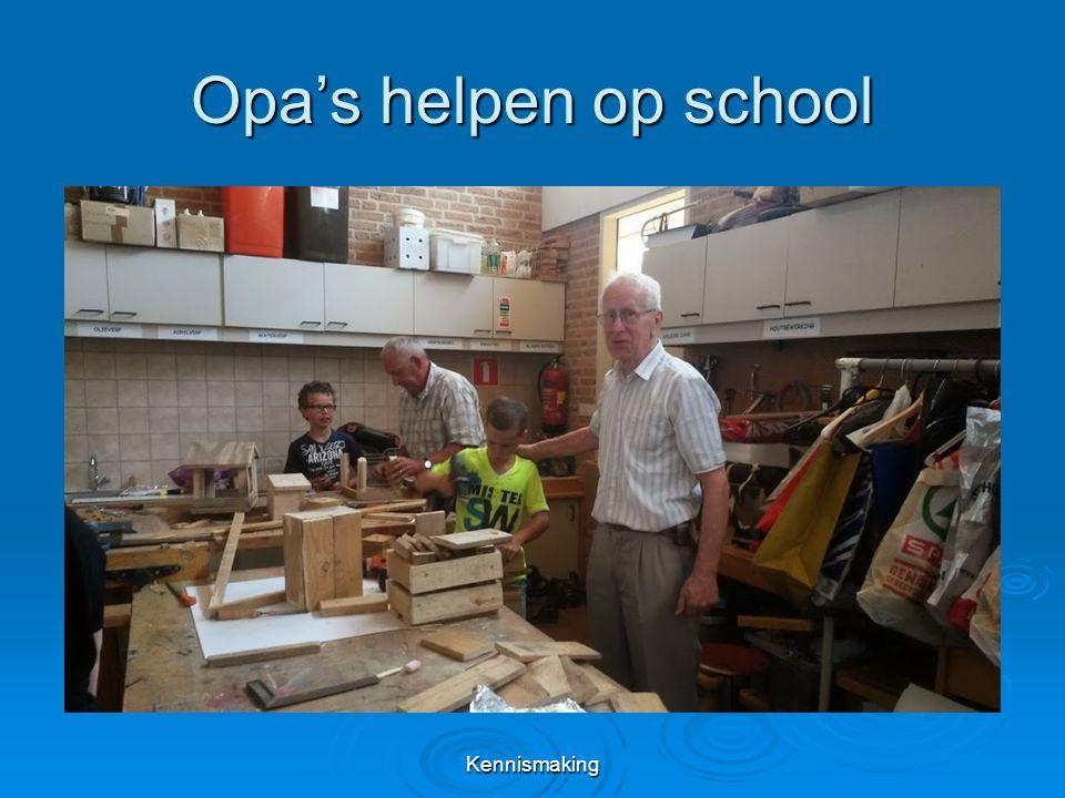 Opa's helpen op school Kennismaking