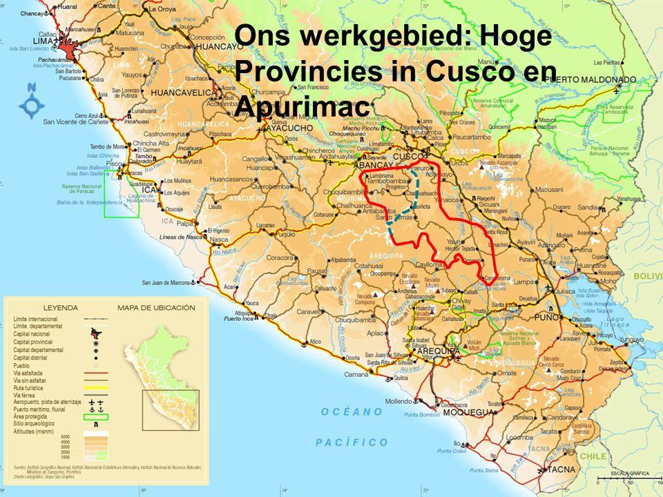Ons werkgebied: Hoge Provincies in Cusco en Apurimac