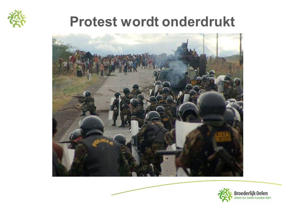 Protest wordt onderdrukt