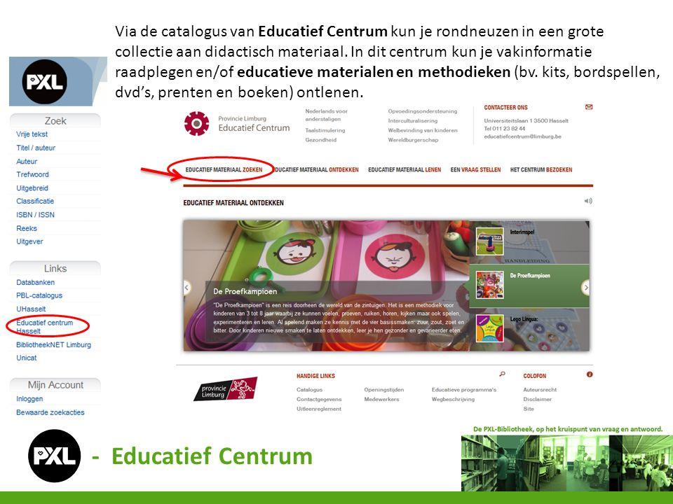 Via de catalogus van Educatief Centrum kun je rondneuzen in een grote collectie aan didactisch materiaal.