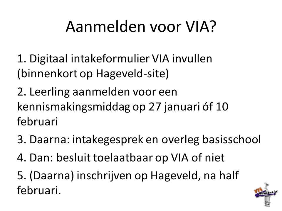 Vervolg - orientatie Meer informatie verzamelen over (VIA) Hageveld.