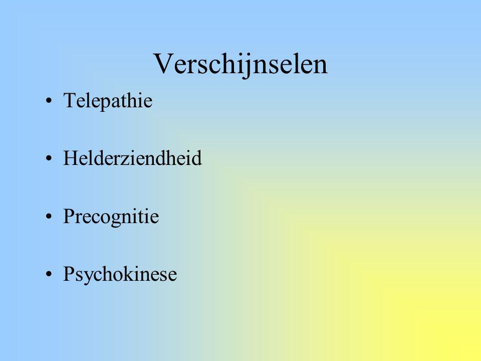 Verschijnselen Telepathie Helderziendheid Precognitie Psychokinese