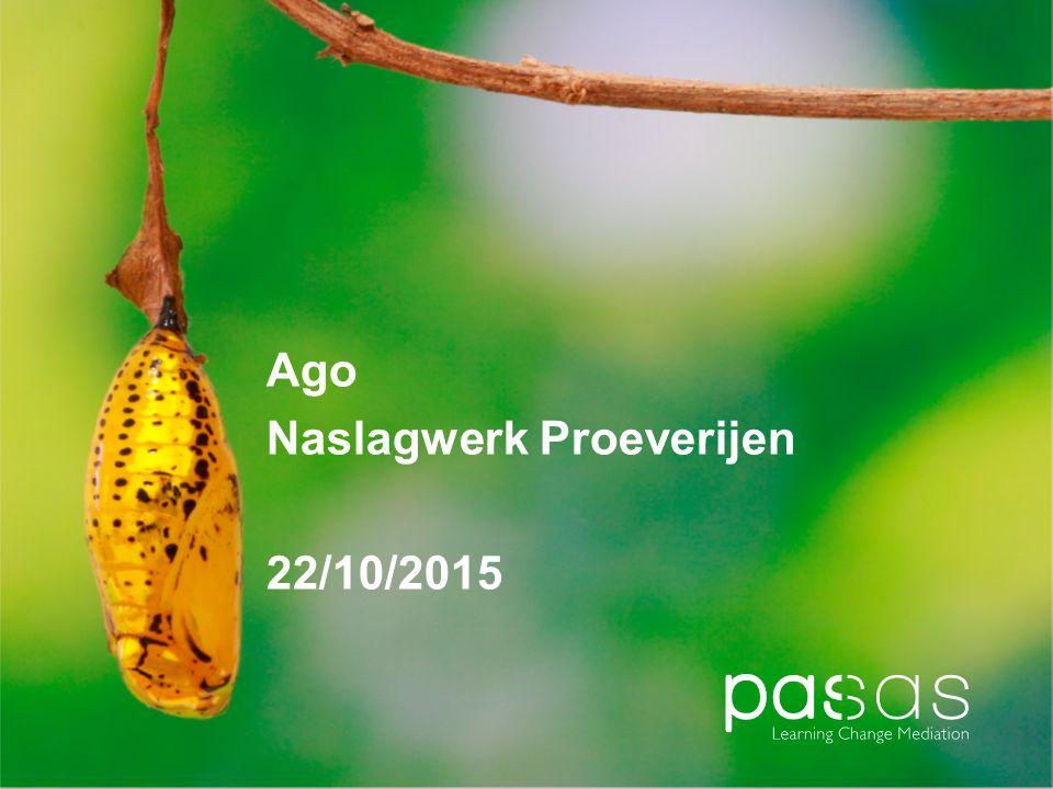Ago Naslagwerk Proeverijen 22/10/2015