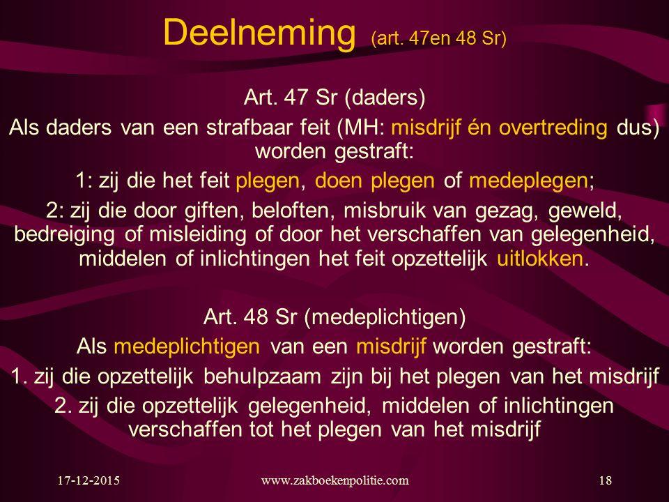 17-12-2015www.zakboekenpolitie.com18 Deelneming (art.