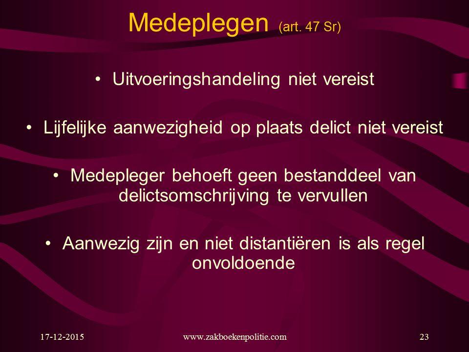 17-12-2015www.zakboekenpolitie.com23 Medeplegen (art.