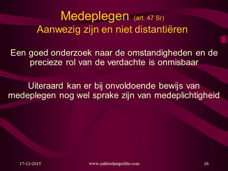 17-12-2015www.zakboekenpolitie.com26 Medeplegen (art.