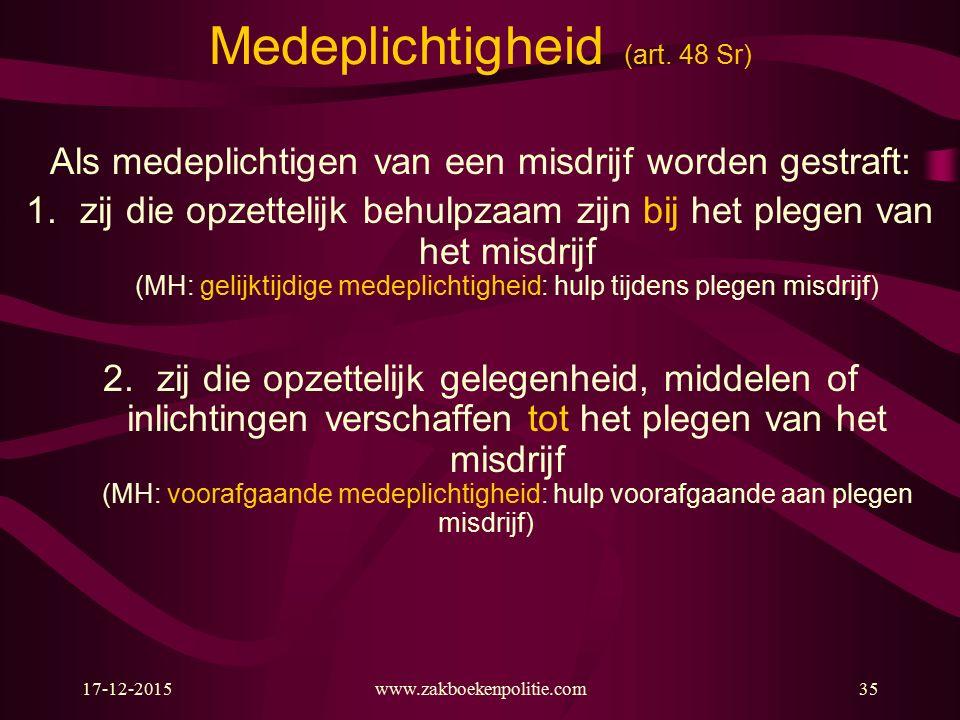 17-12-2015www.zakboekenpolitie.com35 Medeplichtigheid (art.