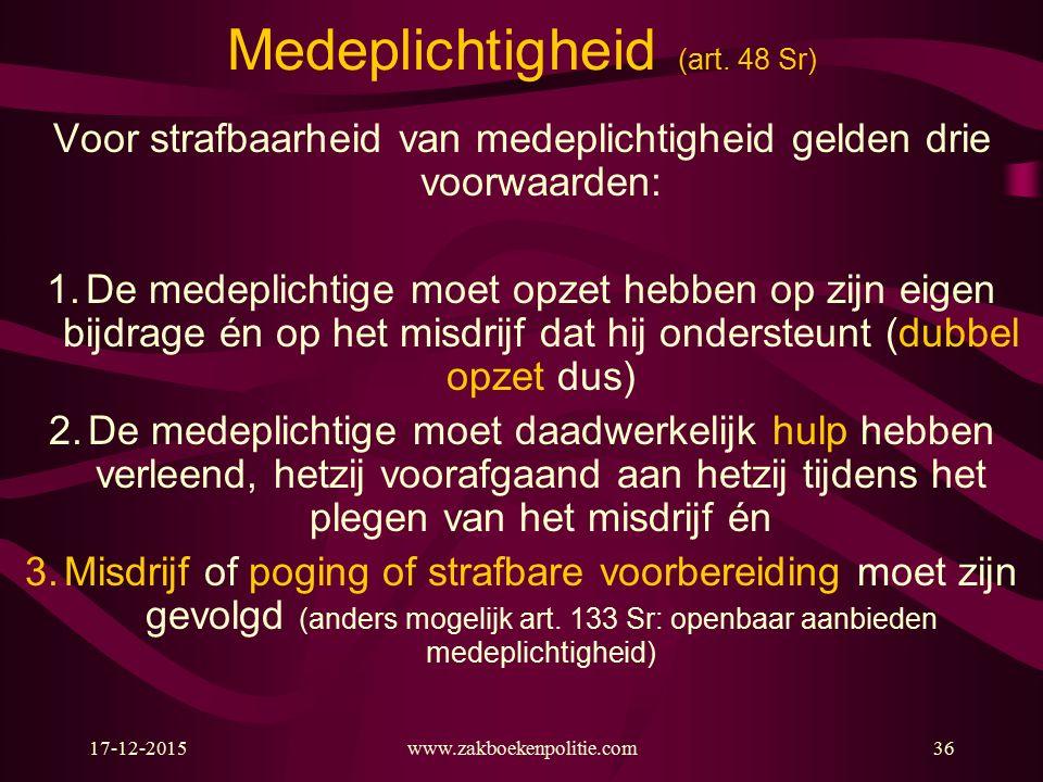 17-12-2015www.zakboekenpolitie.com36 Medeplichtigheid (art.