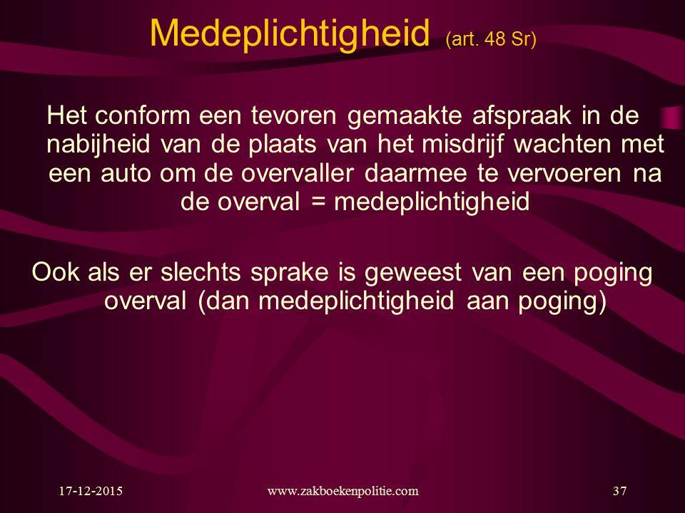 17-12-2015www.zakboekenpolitie.com37 Medeplichtigheid (art.