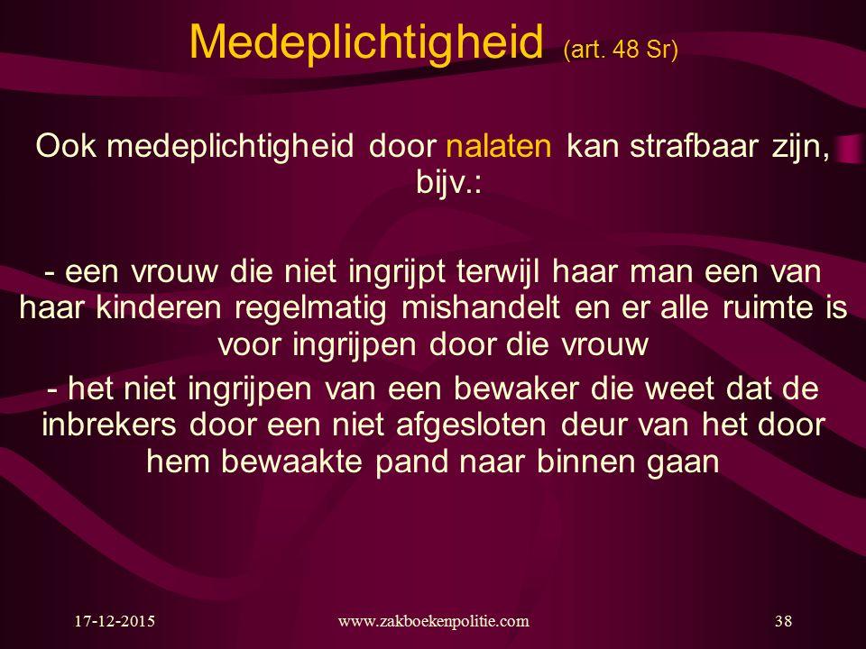17-12-2015www.zakboekenpolitie.com38 Medeplichtigheid (art.