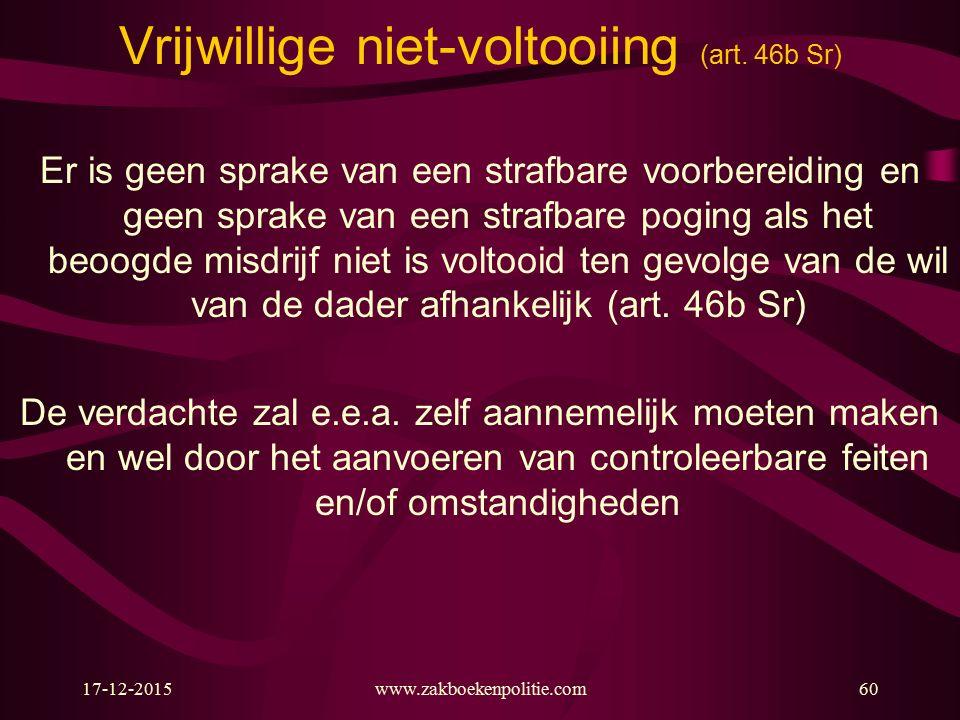 17-12-2015www.zakboekenpolitie.com60 Vrijwillige niet-voltooiing (art.