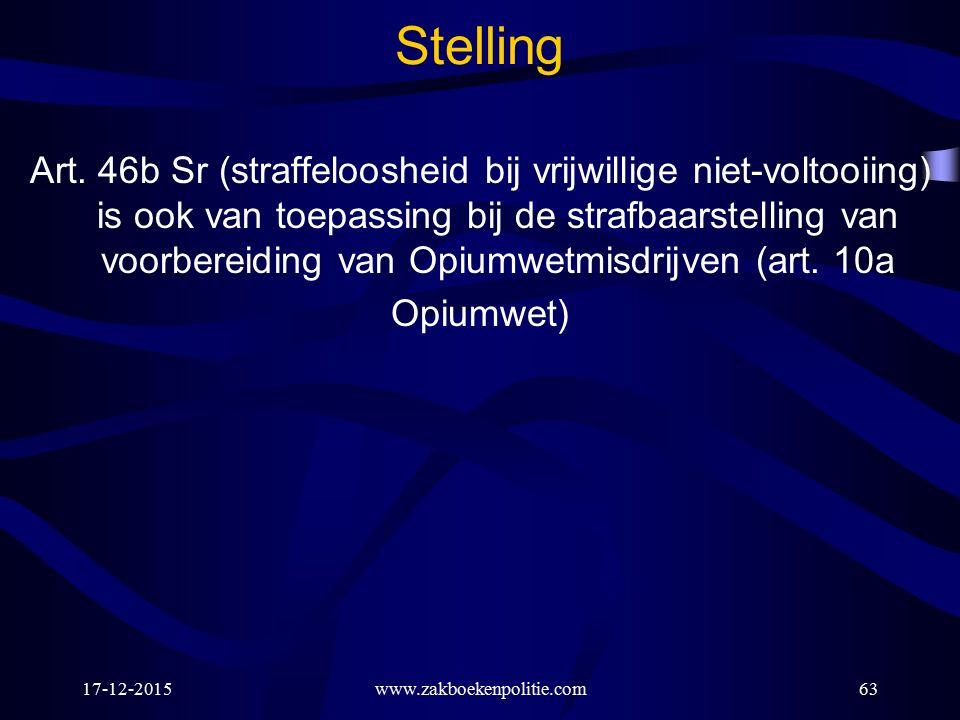 17-12-2015www.zakboekenpolitie.com63 Stelling Art.