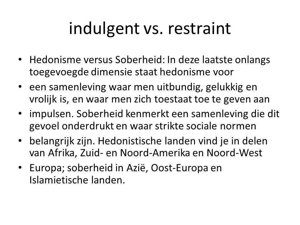 indulgent vs.
