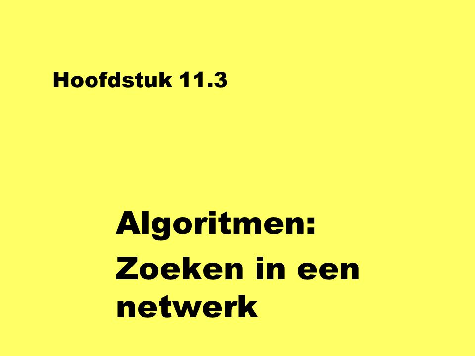 Methoden van Stad class Stad {String Naam; Point Plek; ICollection wegen; Stad ( { } void Teken (Graphics gr, Brush br) { Naam = s; Plek = p; String s, Point p ) Wegen = new LinkedList ( ); gr.