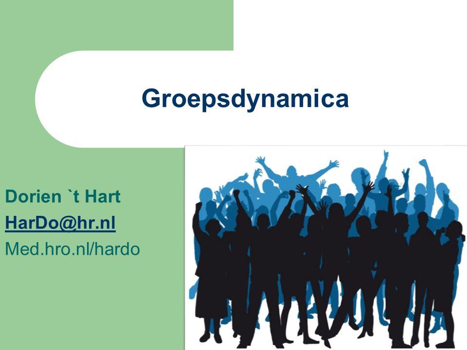 Dorien `t Hart HarDo@hr.nl Med.hro.nl/hardo Groepsdynamica