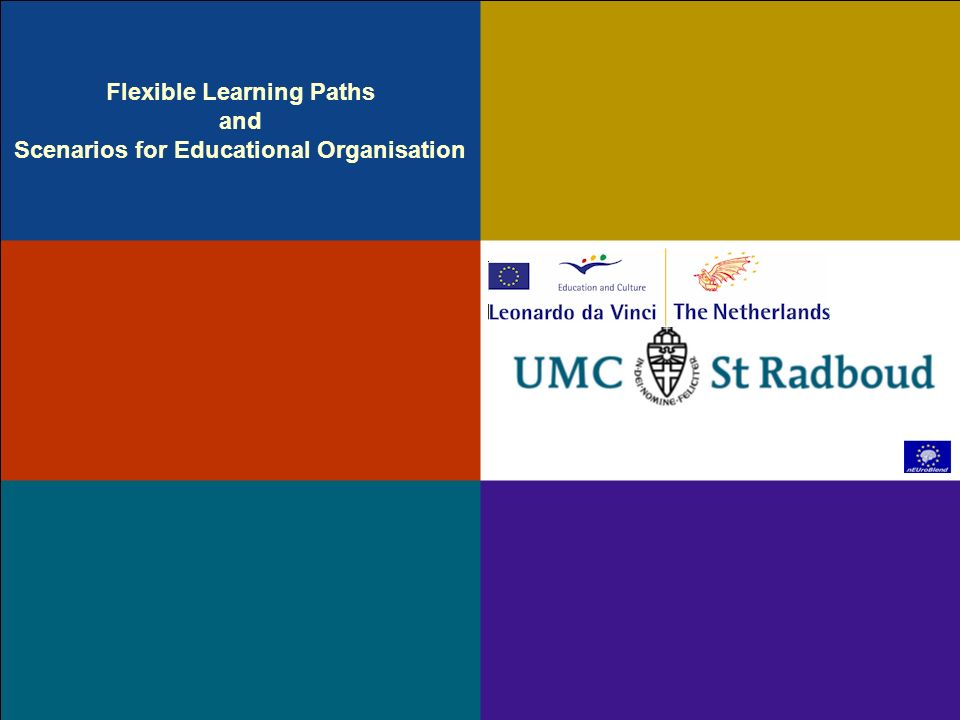 Flexible Learning Paths and Scenarios for Educational Organisation